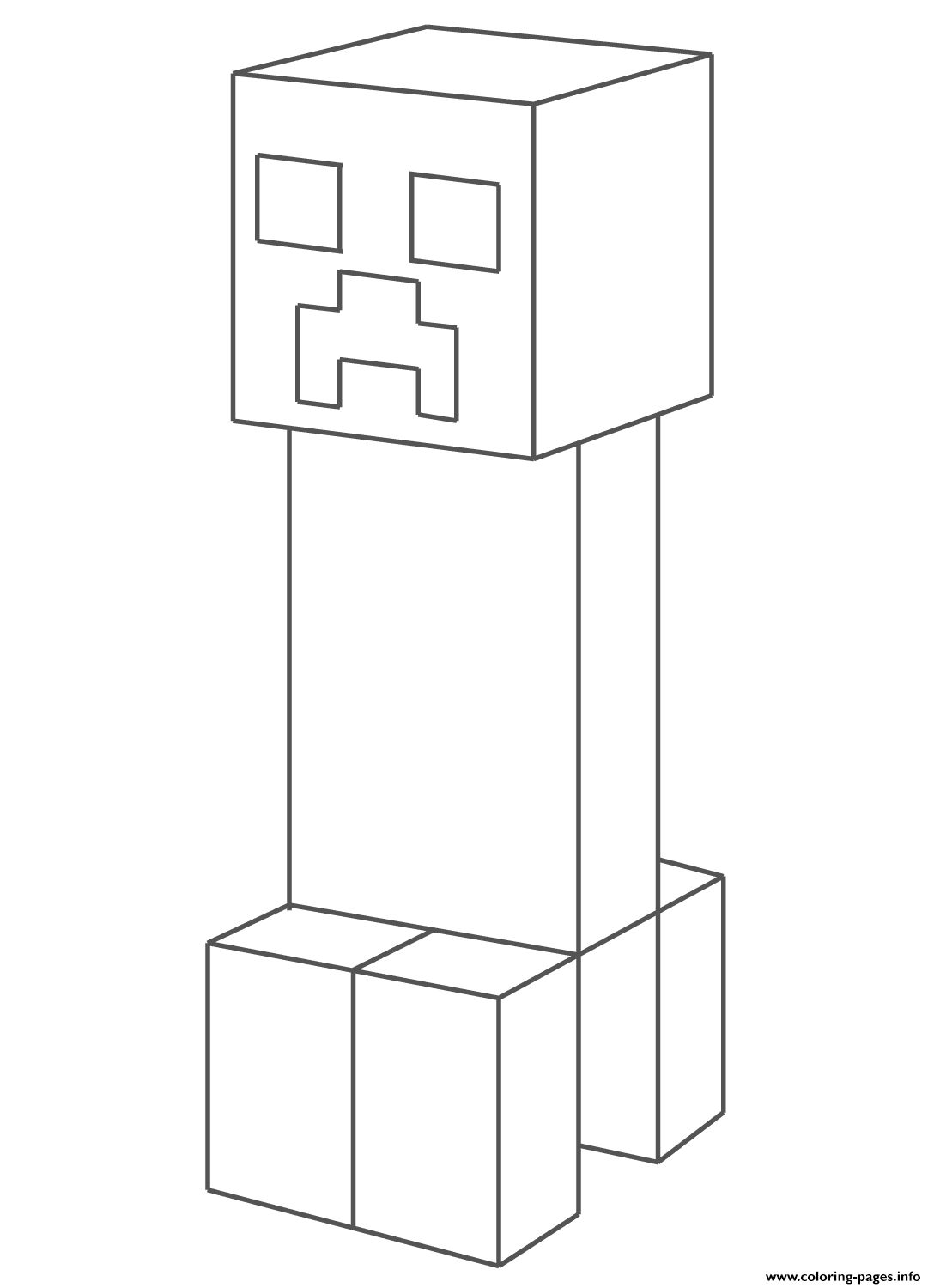 Creeper coloring pages