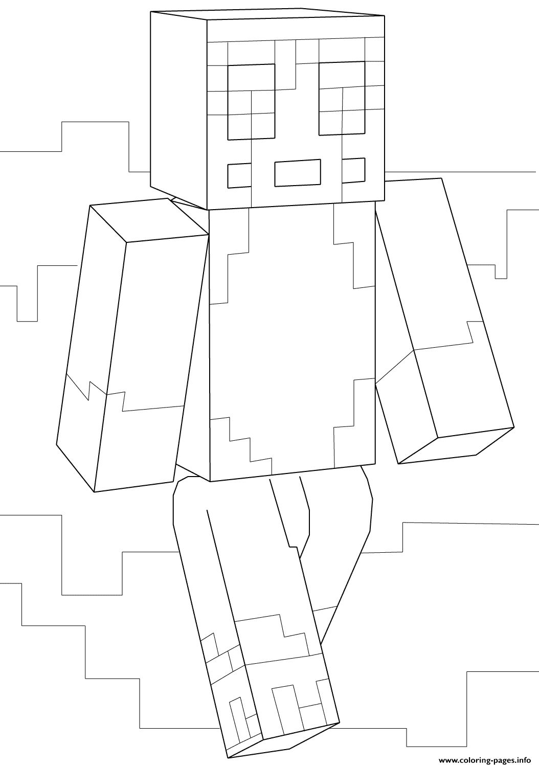 Minecraft Stampy Coloring Pages Printable