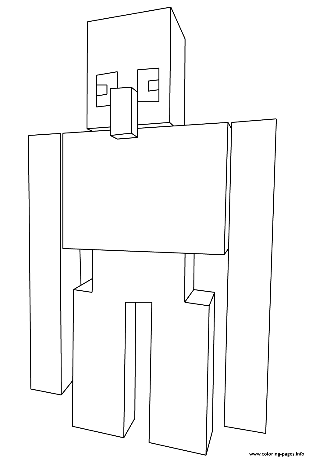 Minecraft Iron Golem Coloring Pages Printable