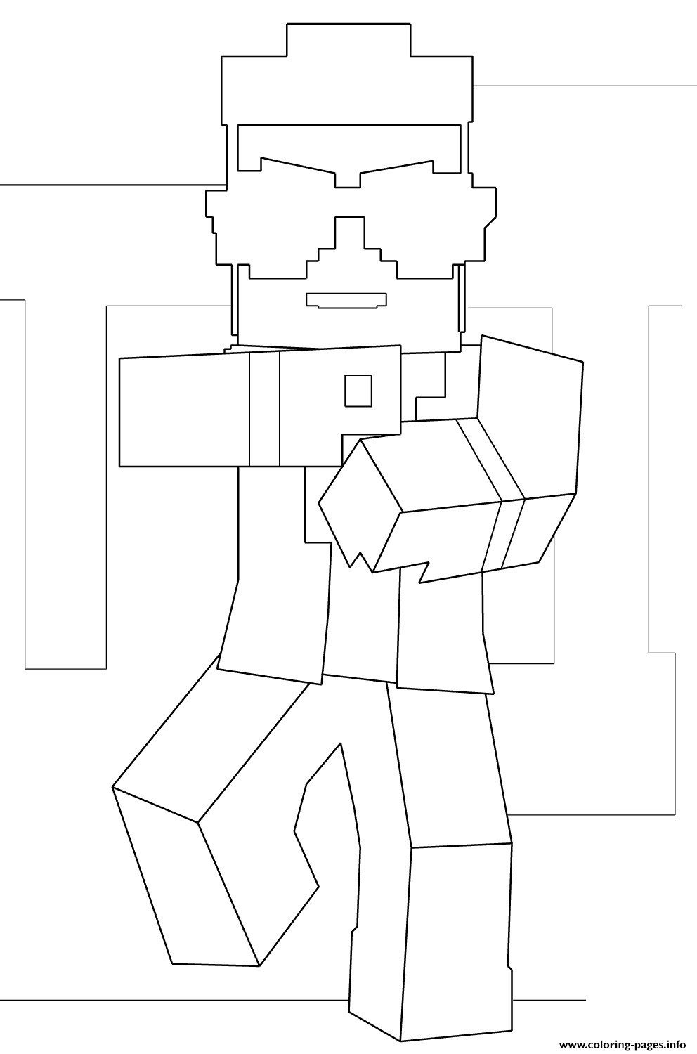 minecraft gangnam style coloring pages printable