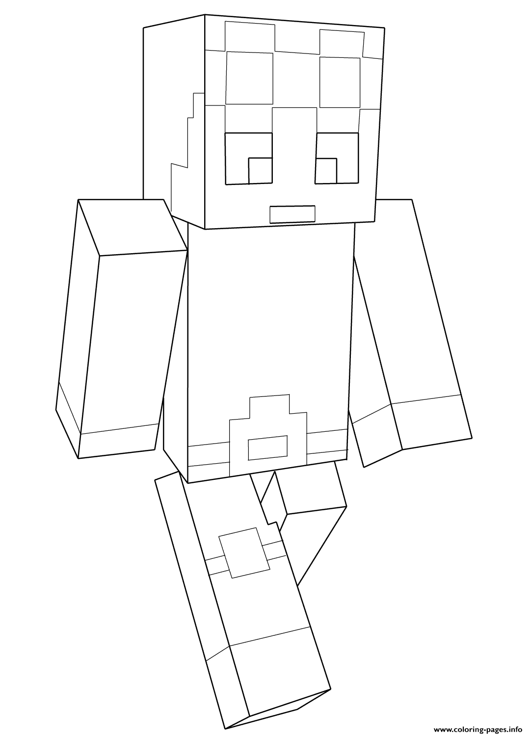 Minecraft Dantdm Coloring Pages Printable