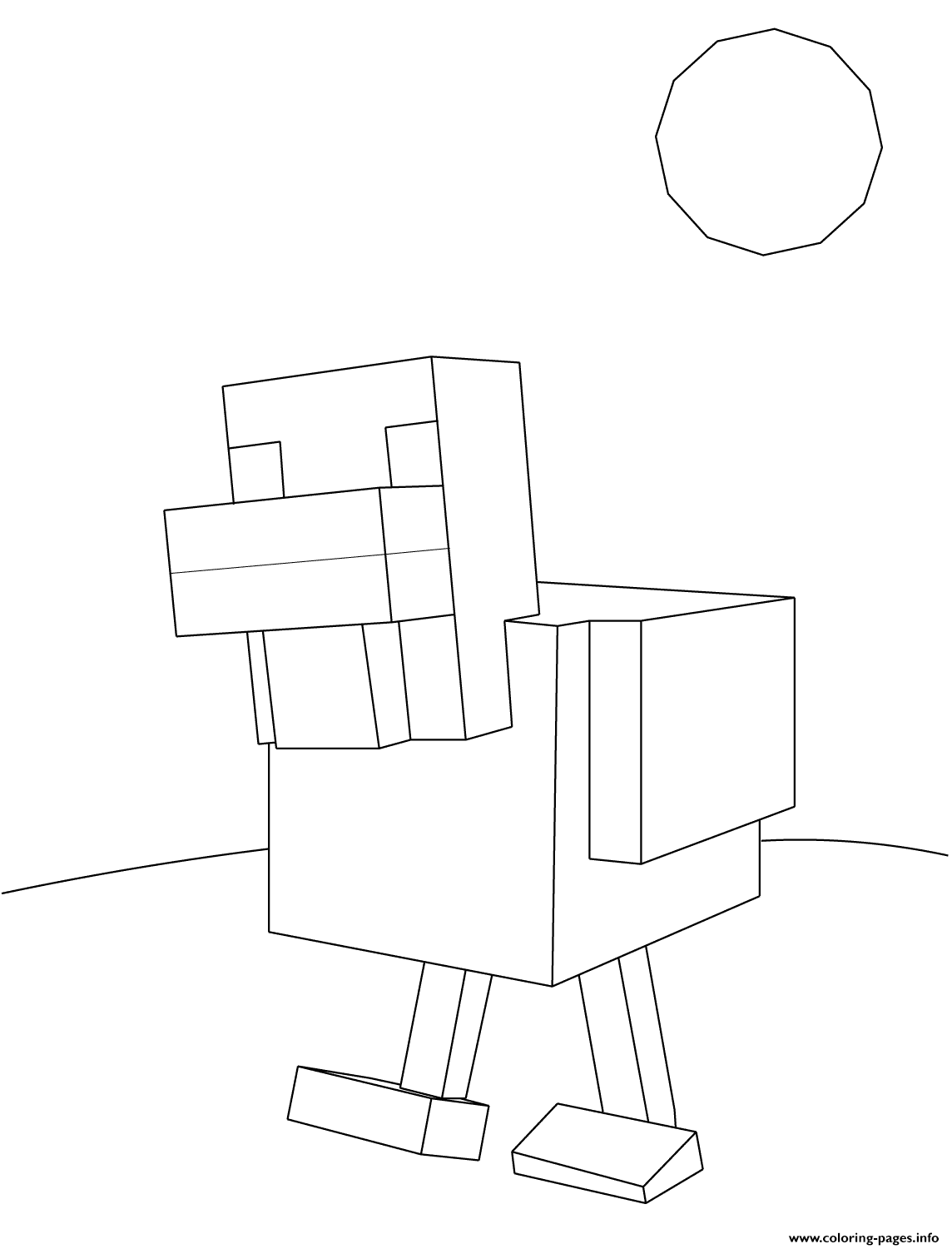 minecraft chicken coloring pages