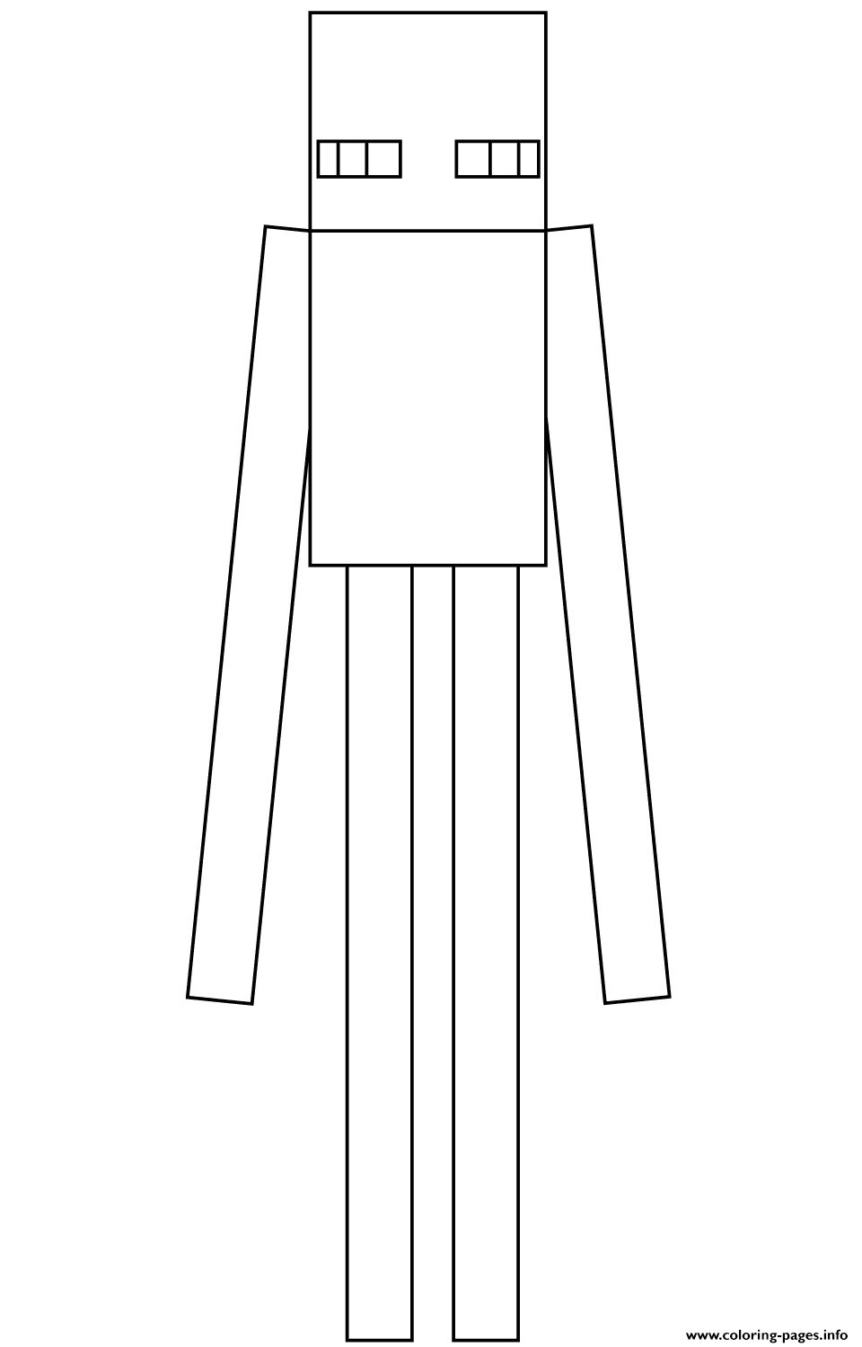 Minecraft Enderman Coloring Pages Printable