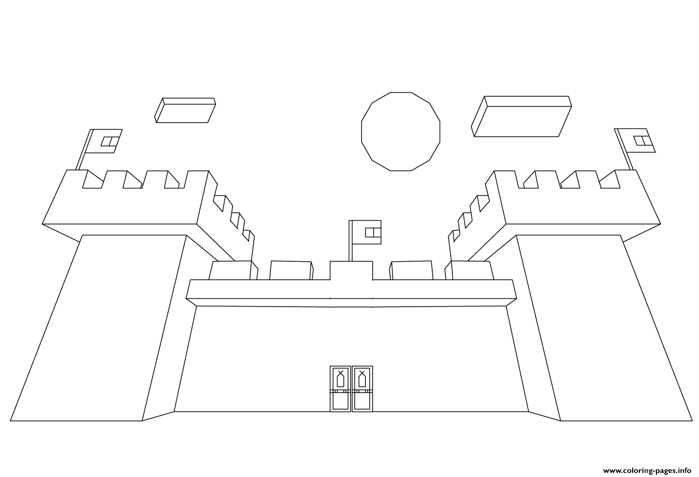Minecraft Castle coloring pages
