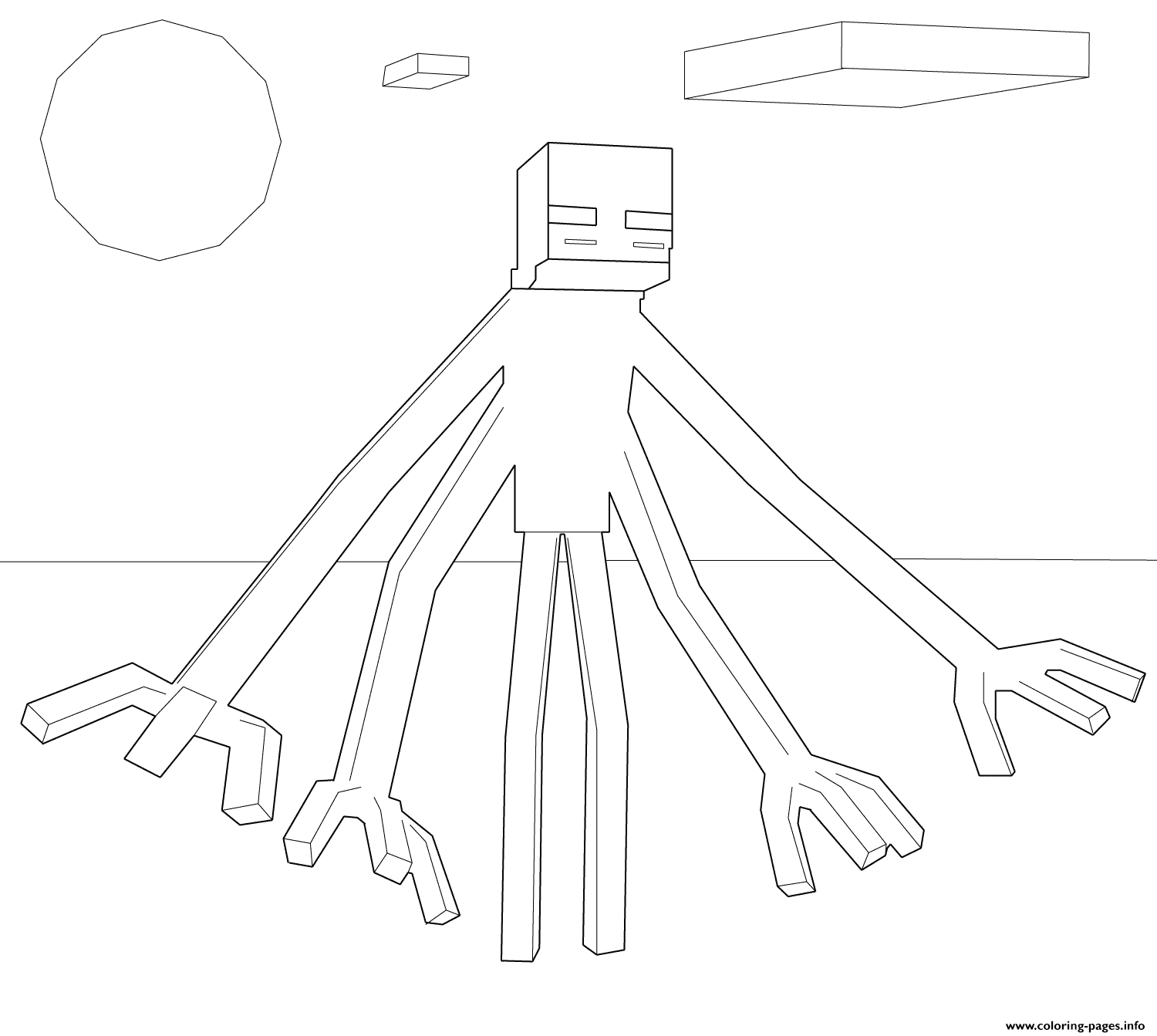 Minecraft Muntant Enderman coloring pages