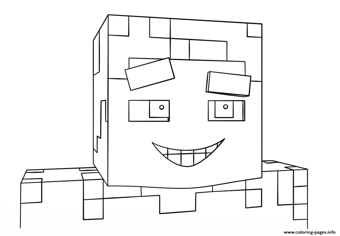 Minecraft Smiling Steve coloring pages