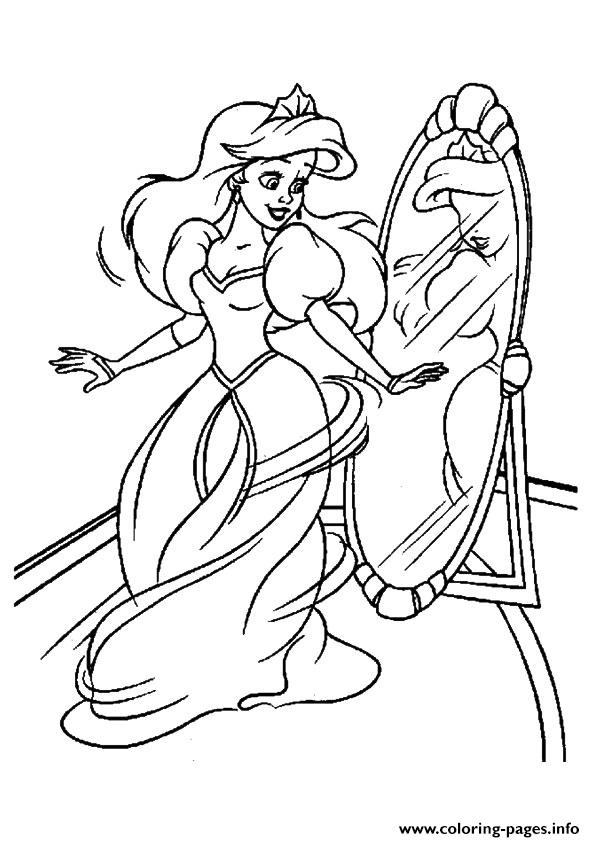 The Beautifully Dressed Princess coloring pages