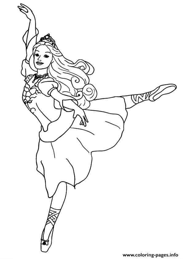 The Dancing Princess Barbie Coloring Pages Printable