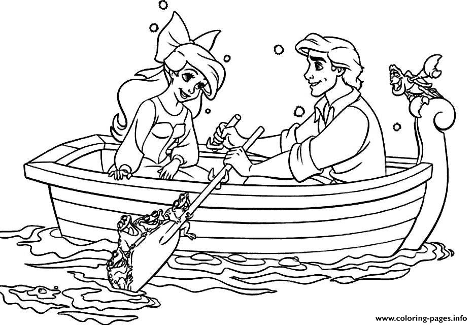 Princess Ariel And Eric coloring pages