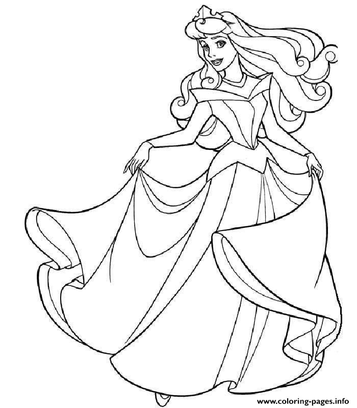 Princess Sleeping Beauty Coloring Pages Printable