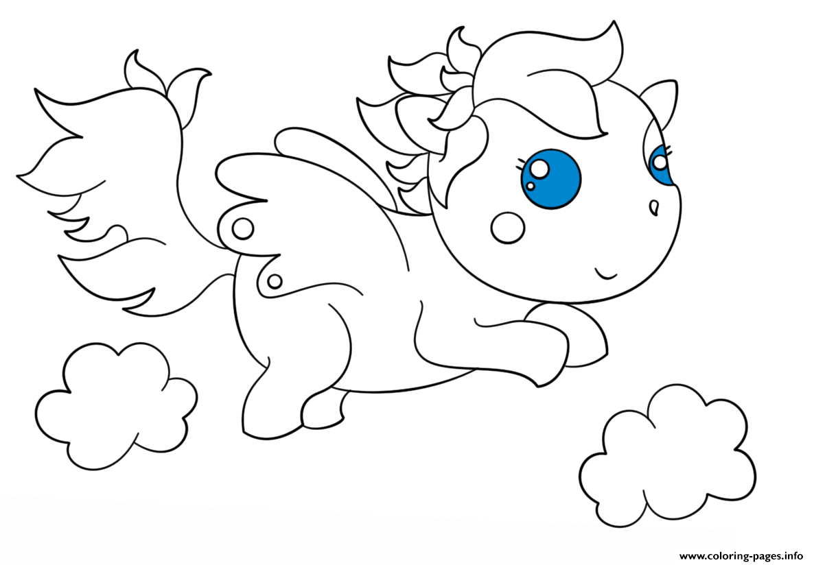 Chibi Pagasus Kawaii coloring pages
