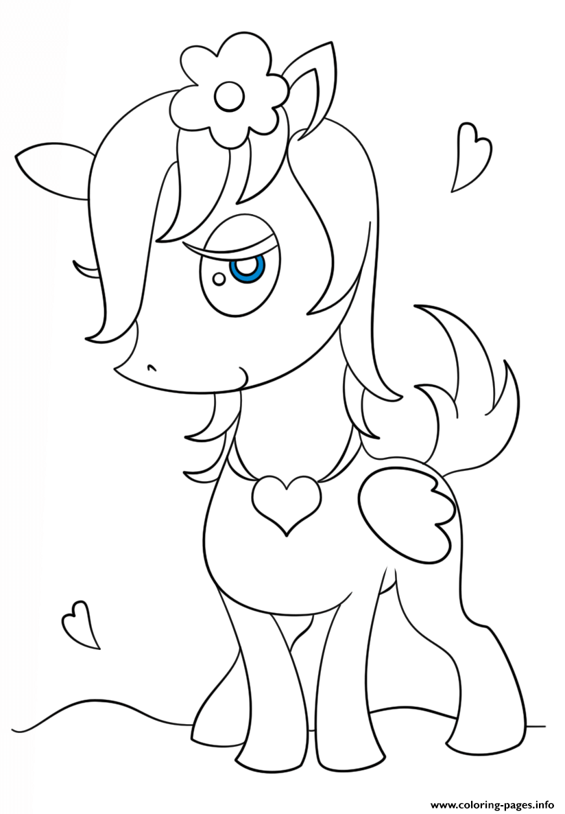 Chibi Pagasus Girl Kawaii coloring pages