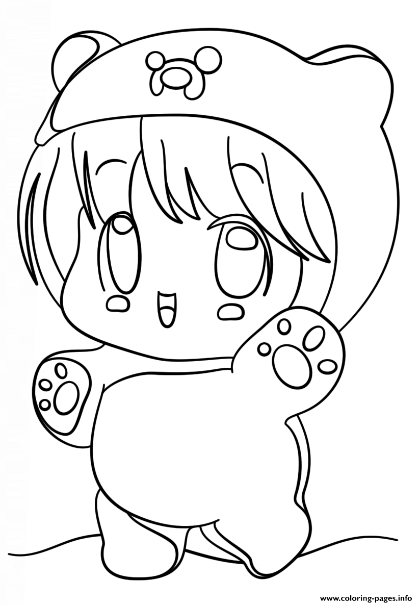 Kawaii Chibi Girl Coloring Pages Printable