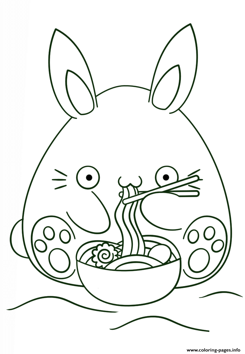 Kawaii Bunny Coloring Pages Printable