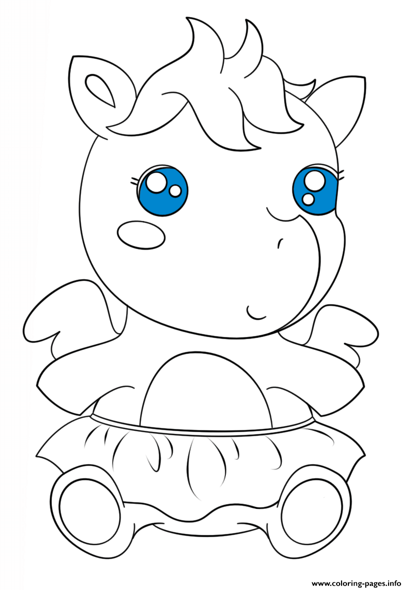cute baby pagasus kawaii coloring pages printable