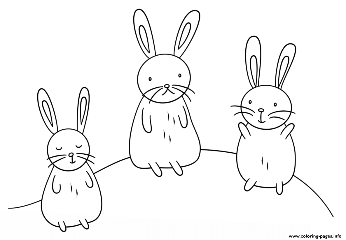 Kawaii Bunnies coloring pages