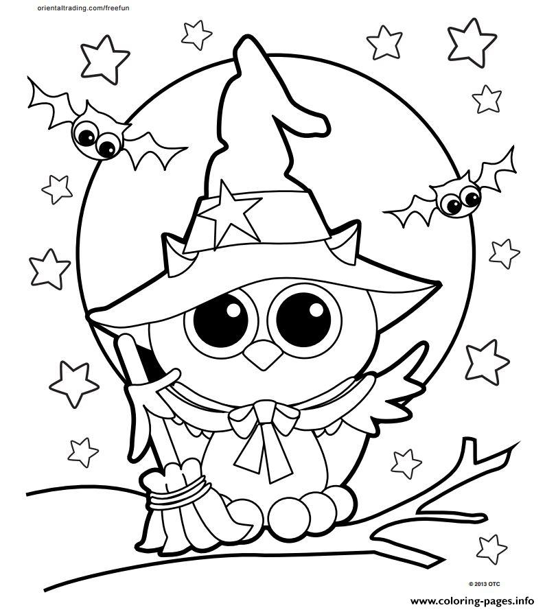 halloween owl coloring pages printable