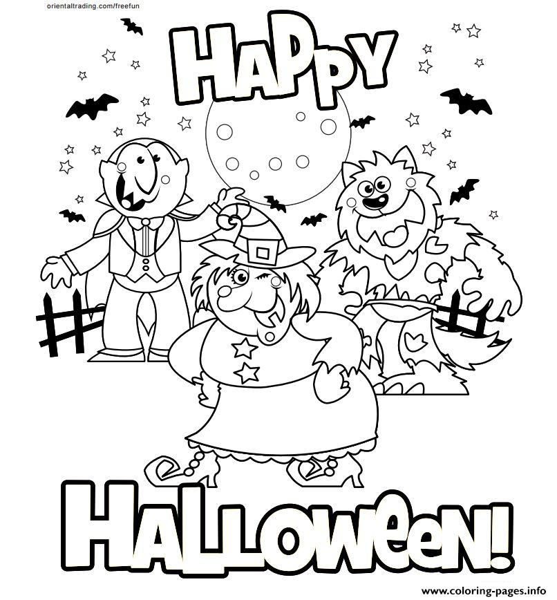Happy Halloween 2017 Coloring Pages Printable