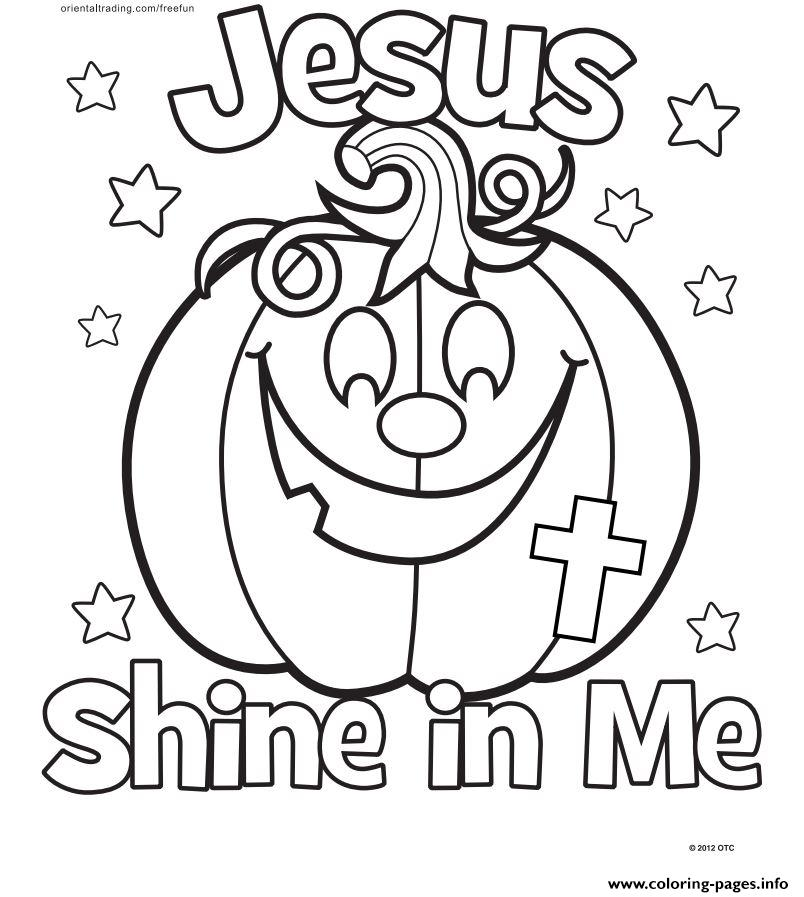 Halloween Jesus Shine In Me Coloring Pages Print Download 345 Prints