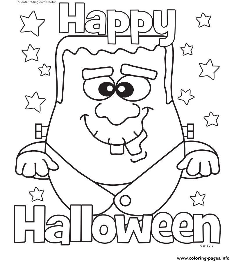 Halloween Monster Happy Halloween Coloring Pages Printable
