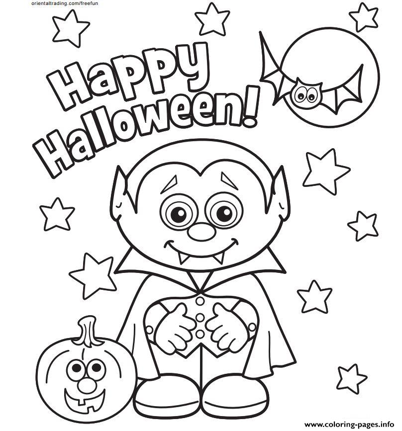 Happy halloween coloring pages printable for Happy halloween coloring pages printable