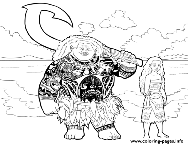 Free Colouring Pages Moana : Moana coloring pages free download printable