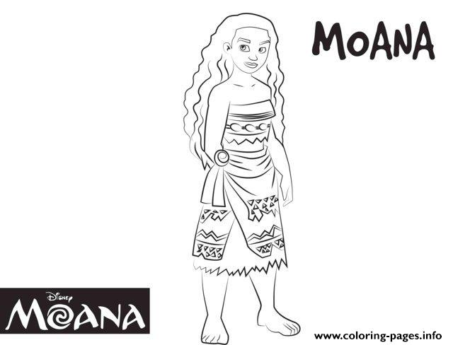 Cute Moana Disney  coloring pages