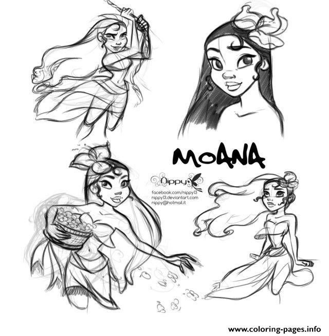 Moana Disney Fan Art  coloring pages
