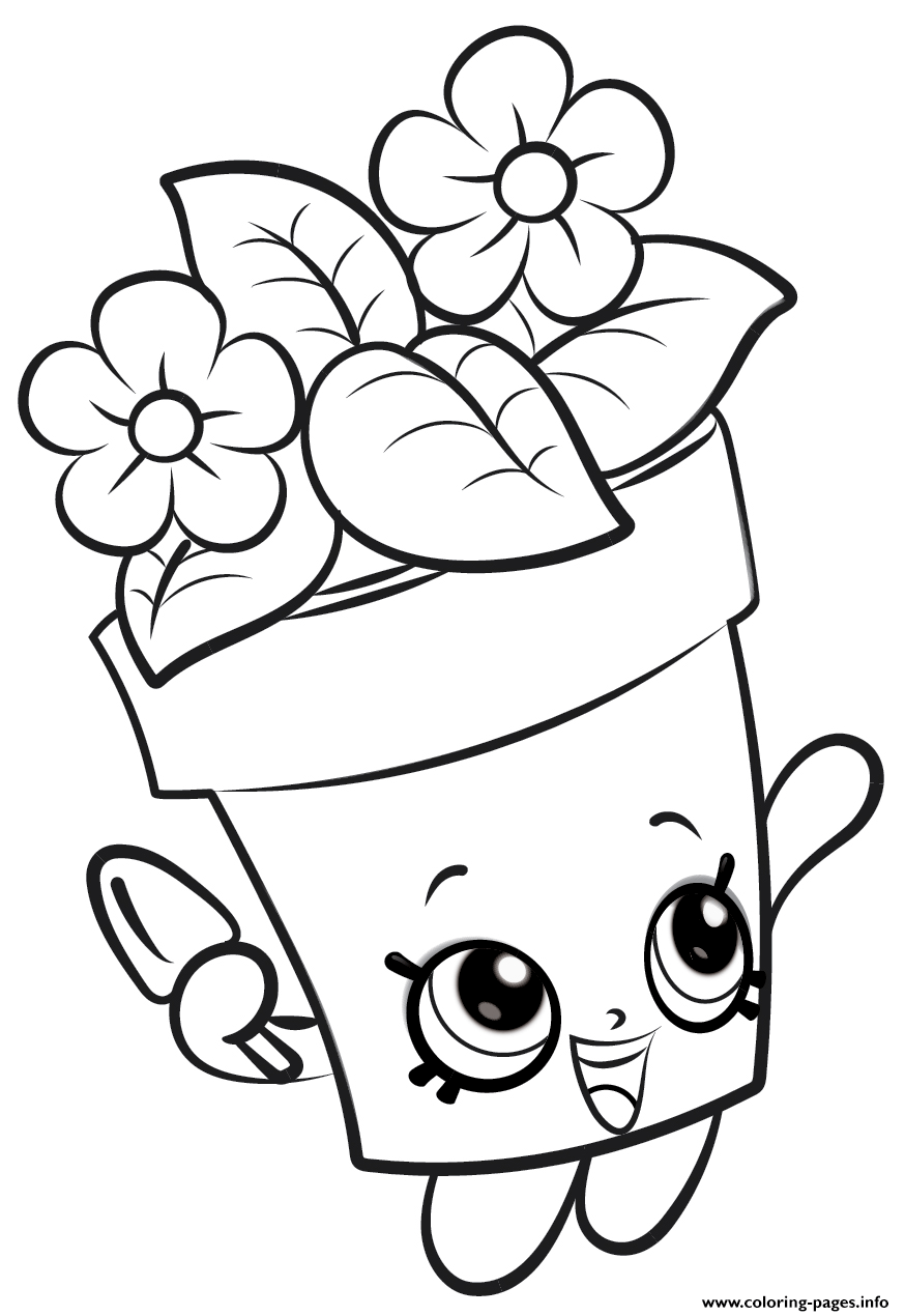 Shopkins Flowers New Coloring Pages