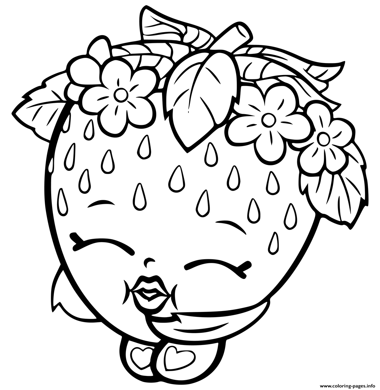 shopkins strawberry coloring pages printable