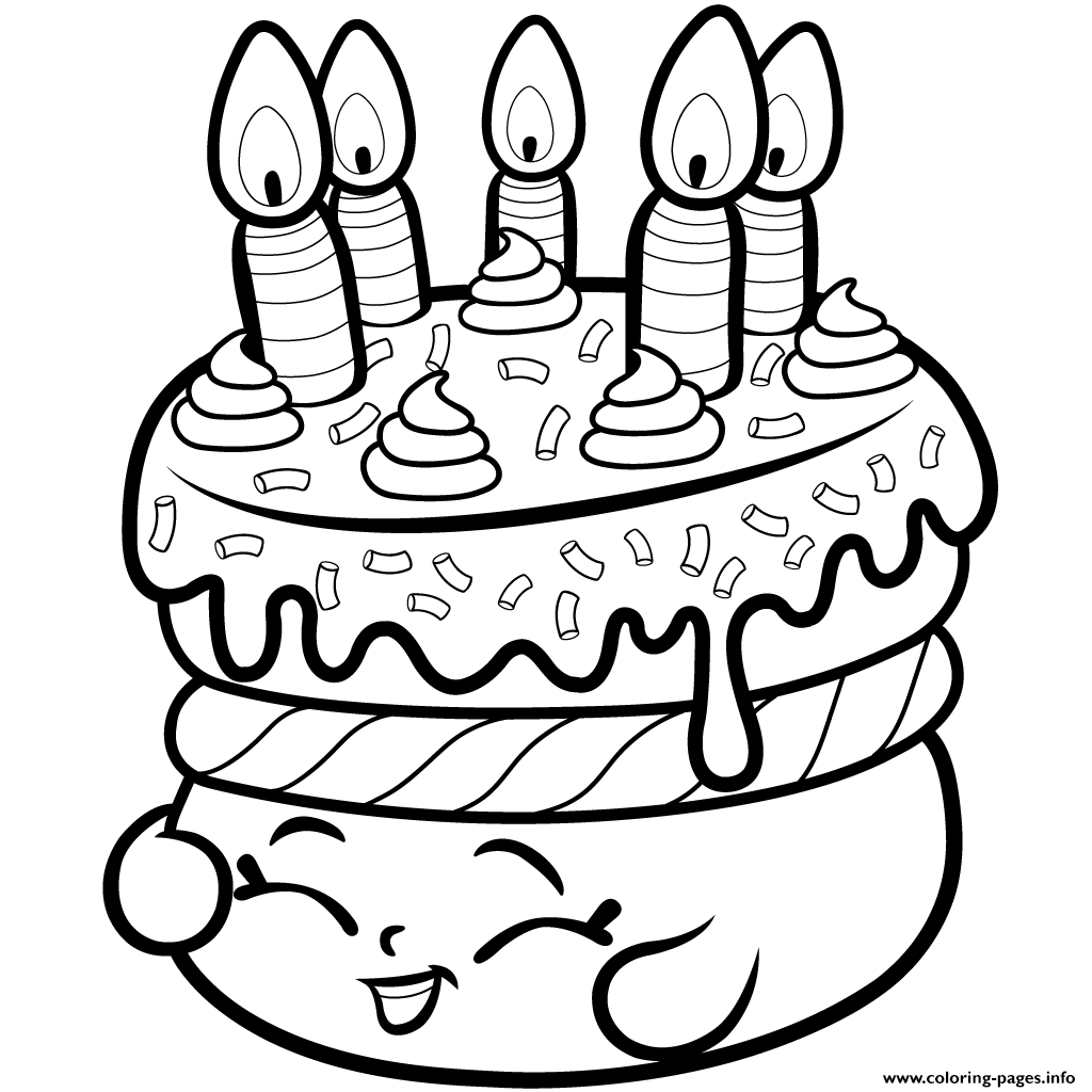 cake wishes from shopkins Coloring pages Printable