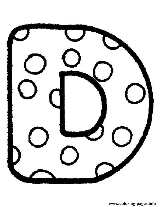 Bubble Letter D Coloring Pages Printable The Letter D In Bubble Letters