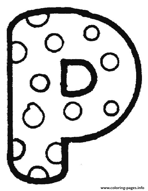 bubble letter p coloring pages