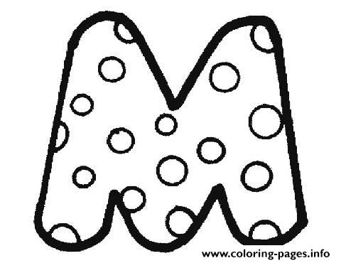 Bubble Letter M Coloring Pages Print Download
