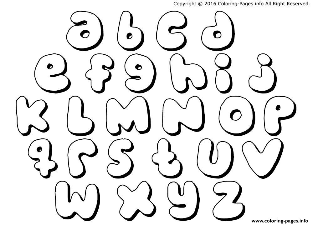 Bubble letters bubble gums coloring pages printable - Alphabet dessin ...