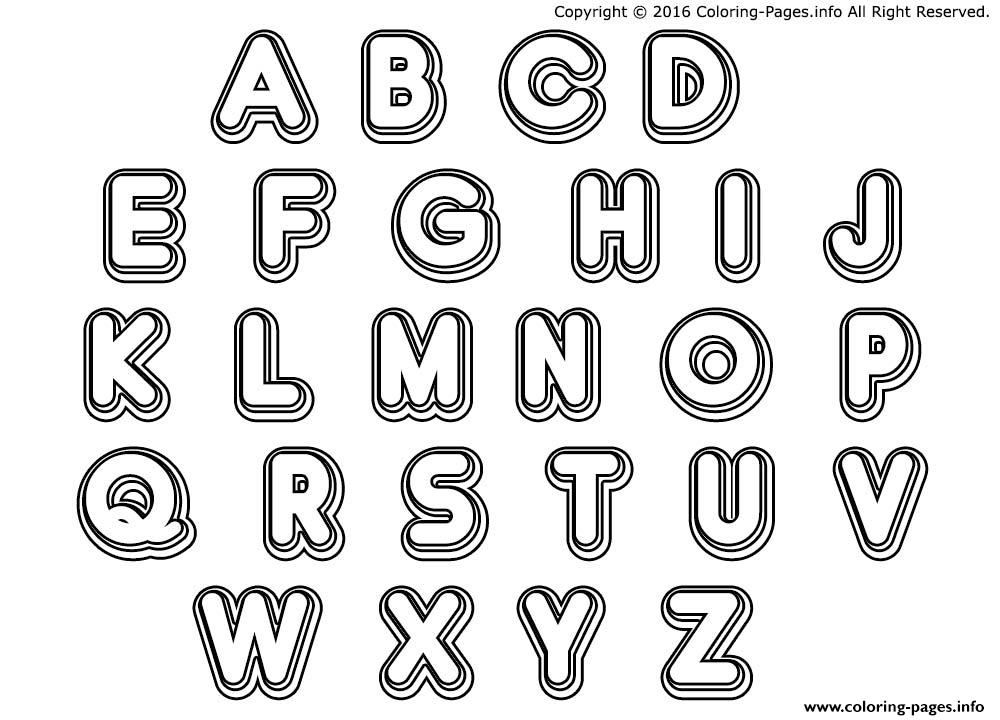 double bubble letters colouring print double bubble letters coloring pages - Alphabet Coloring Pages