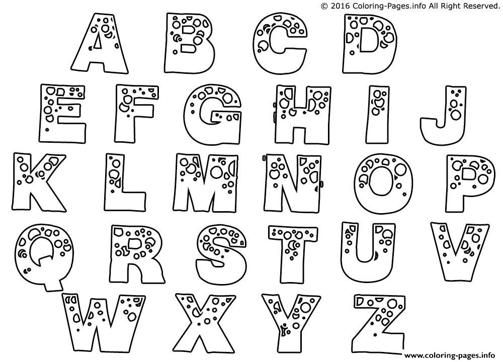 Bubble Letters Man Coloring Pages