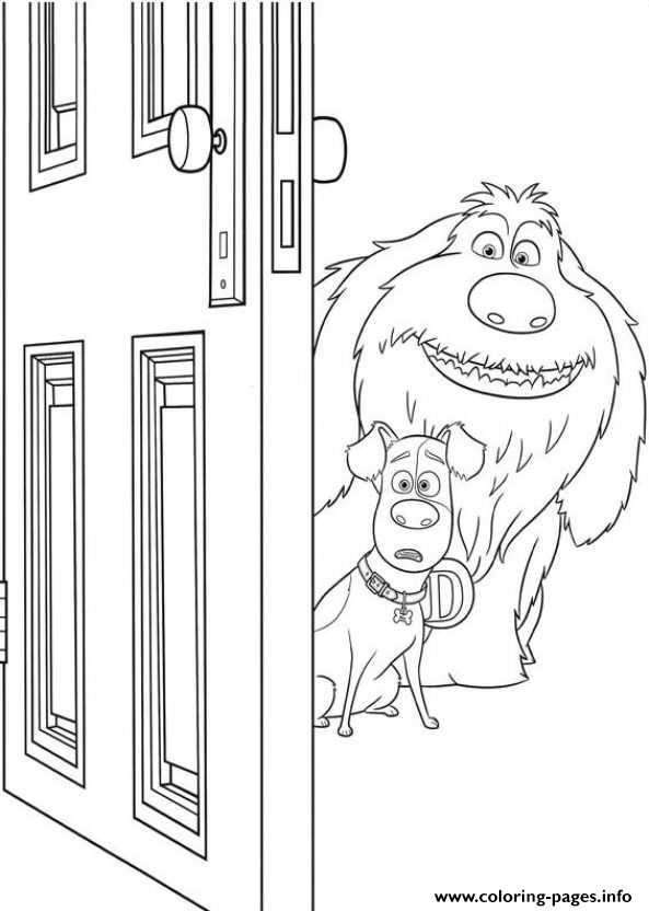 Kleurplaat Frozen Pdf Duke And Max Open A Door Secret Life Of Pets Coloring
