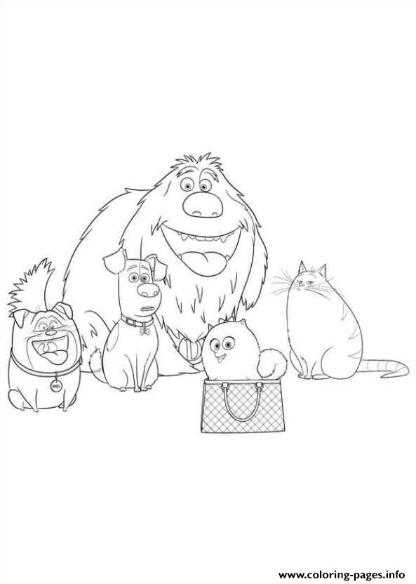 secret life of pets coloring pages to print - all the family together secret life of pets coloring pages