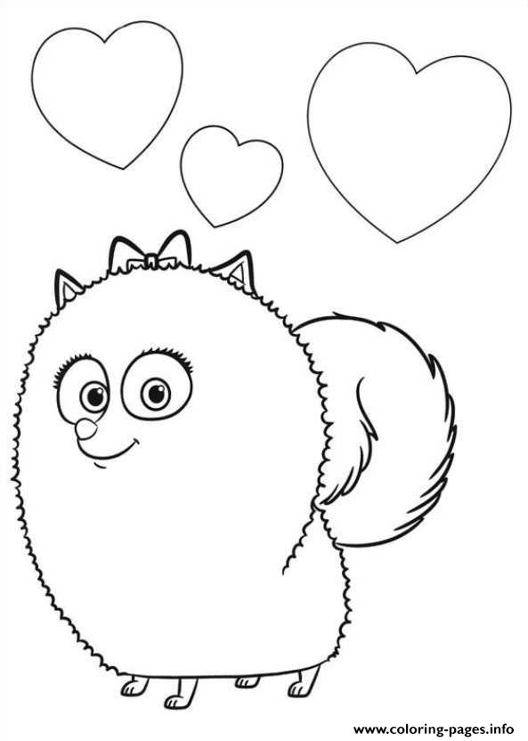 Gidget Is In Love Secret Life Of Pets Coloring Pages Printable