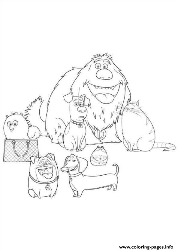 All The Family Secret Life Of Pets Coloring Pages Printable