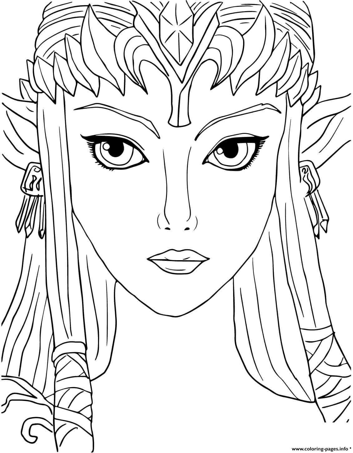 Legend Of Zelda Twilight Princess Coloring Pages Printable