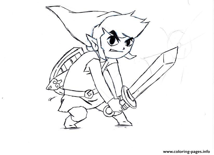 zelda character coloring pages - Zelda Coloring Pages