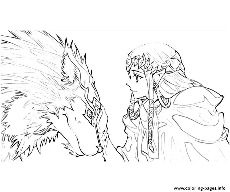 Legends Of Zelda Love Wolf coloring pages