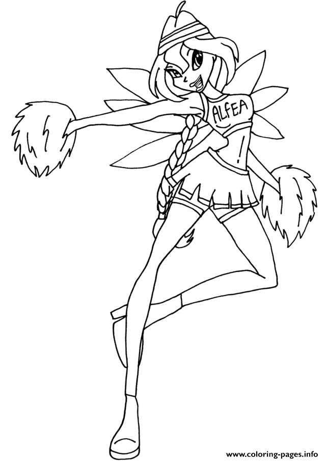 Bloom Cheerix Winx Club  coloring pages