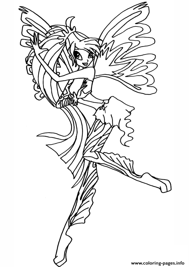 sirenix bloom winx club coloring pages printable