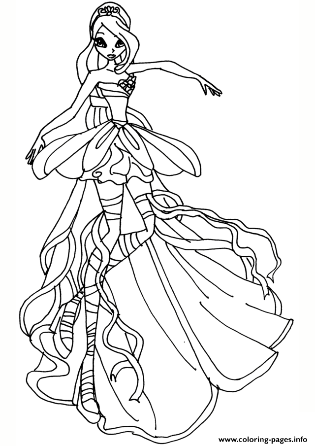 Bloom Harmonix Winx Club Coloring Pages Printable