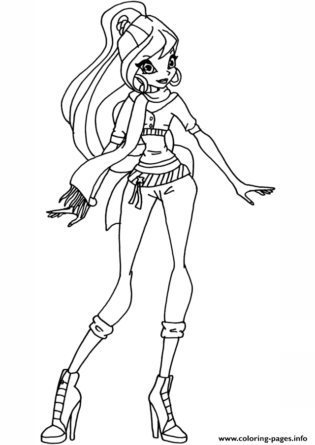 Bloom Season 5 Winx Club Coloring Pages Printable