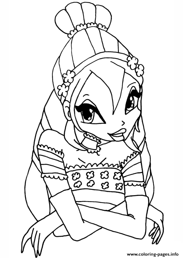 Bloom Winx Club Coloring Pages Print Download