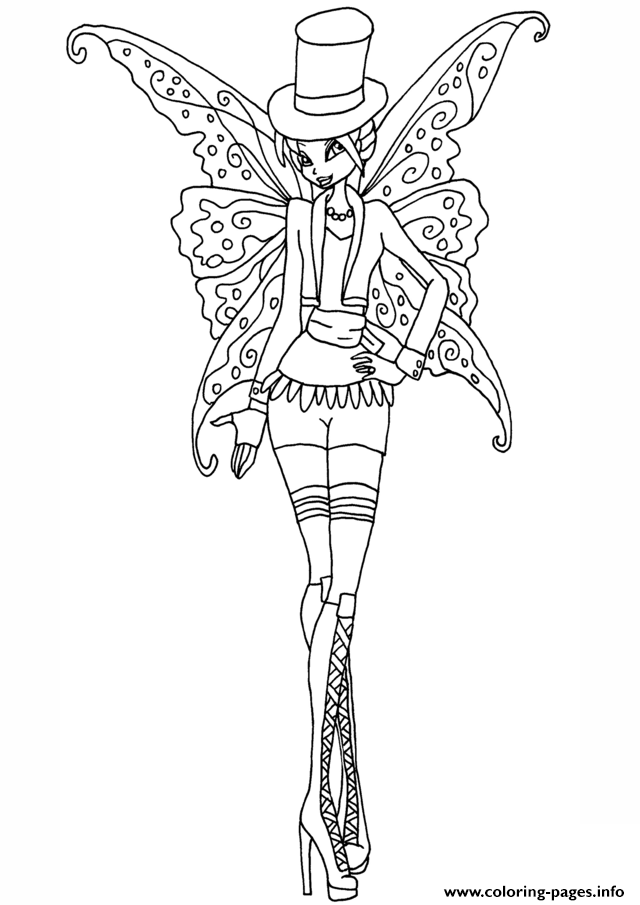Gothic Bloom Winx Club Coloring Pages Print Download 307 Prints